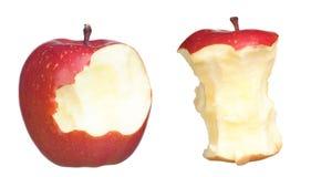 Deux pommes rouges et de dégagement Photo stock
