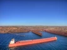 Deux ports est la communauté sur le rivage du nord du lac Supérieur i images libres de droits