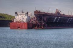 Deux ports est la communauté sur le rivage du nord du lac Supérieur i image libre de droits