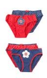 Deux positionnements de vêtements de sous-vêtements pour le bébé images libres de droits