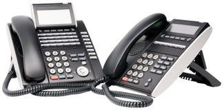 Deux postes téléphoniques digitaux Photo libre de droits