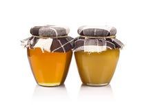 Deux pots de miel Photo libre de droits
