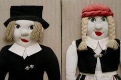 Deux poupées de son photo stock