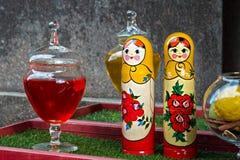 Deux poupées russes Photos stock