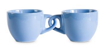 Deux pour le prix d'un met en forme de tasse. photographie stock libre de droits
