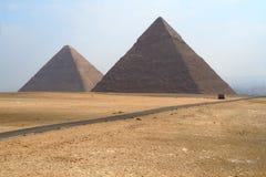 Deux pyramides égyptiennes Photographie stock