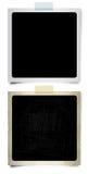 Deux rétro photographies en blanc Photos libres de droits