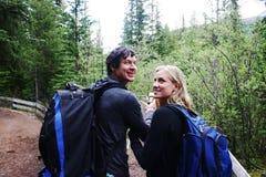 Deux randonneurs Photo libre de droits