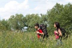 Deux randonneurs Photographie stock