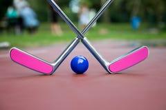 Deux raquettes croisées rosâtres de fer Photos stock
