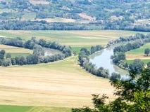 Deux rivières qui viennent fin sans toucher jamais Photographie stock