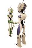 Deux robots Photo libre de droits