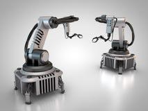Deux robots industriels Image libre de droits