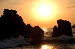 Deux roches dans l'océan - Mexique Photographie stock libre de droits