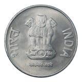 Deux roupies indiennes Images stock