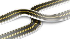 Deux routes croisées - stratégie commerciale illustration libre de droits