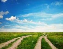 Deux routes de campagne Image libre de droits