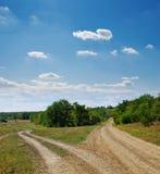 Deux routes rurales Photos libres de droits