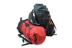 Deux sacs à dos de touristes Photographie stock libre de droits