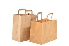 Deux sacs à provisions Photos libres de droits