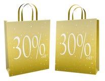 Deux sacs de vente de Noël Image libre de droits