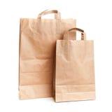 Deux sacs en papier de achat Images libres de droits