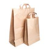 Deux sacs en papier de achat Images stock