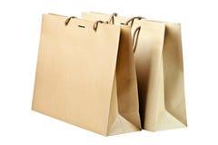 Deux sacs à provisions. Image libre de droits