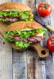 Deux sandwichs submersibles frais photographie stock libre de droits