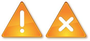 Deux signes Image stock