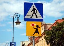 Deux signes de route Photos libres de droits