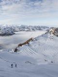 Deux skieurs Photo libre de droits