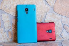 Deux Smartphones images libres de droits