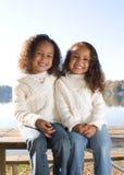 Deux soeurs Photographie stock