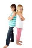Deux soeurs dans une mauvaise humeur Photo libre de droits