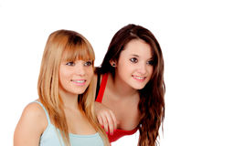 Deux soeurs de l'adolescence Photo stock