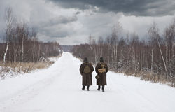 Deux soldats Image libre de droits