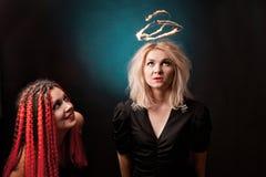 Deux sorcières Photographie stock
