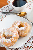 Deux souffles crèmes Image libre de droits