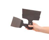 Deux spatules en métal à disposition Photographie stock libre de droits