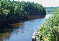 Deux St Croix River Paddlers image libre de droits