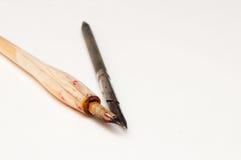 Deux stylos de calligraphie sur le blanc Photo stock