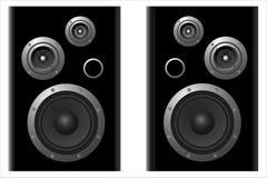 Deux systèmes de haut-parleur Photo stock