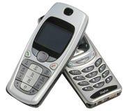 Deux téléphones portables Photos libres de droits