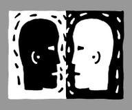 Deux têtes Images stock