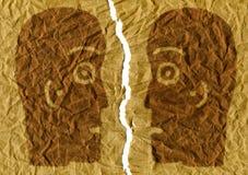 Deux têtes séparées Image stock