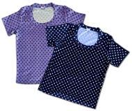 Deux T-shirts de coton de vintage pois Images libres de droits