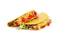Deux tacos sur un fond blanc Photographie stock libre de droits
