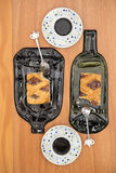 Deux tartes de coing, coupes, recettes d'Italien et d'Argentin appelées images stock