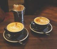 Deux tasses de café Photographie stock libre de droits
